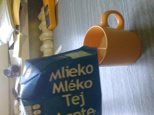 šálka mlieka potravina