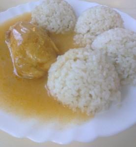 ryža kuracia prsia