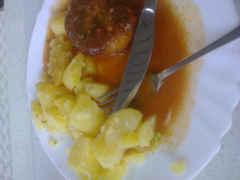 zemiaky  s mäsom