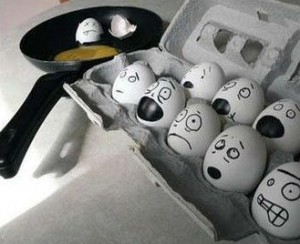 strach vajec