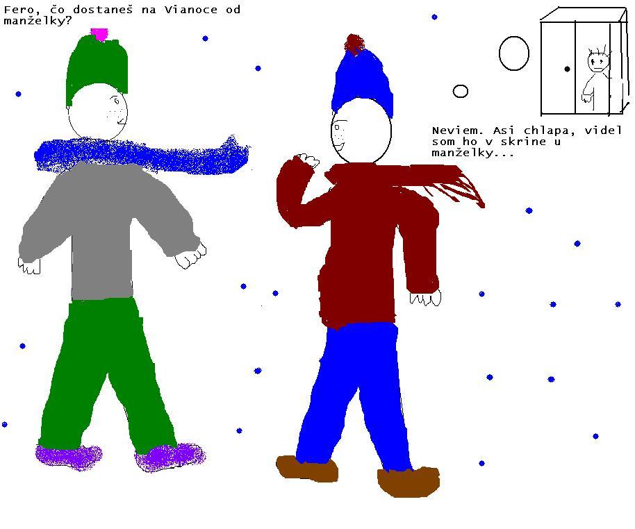kreslený vianočný vtip zabavicka.sk