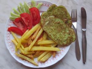 rýchly a lacný obed hranolky a placky