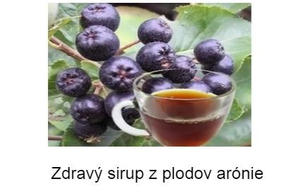 zdravy sirup s plodov aronie